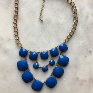 Vintage Blue and Gold Statement Piece
